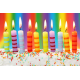 Candles, birthday cake type,pkt/24