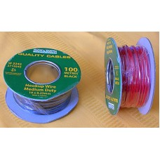Hook Up Wire, Black, 100m roll